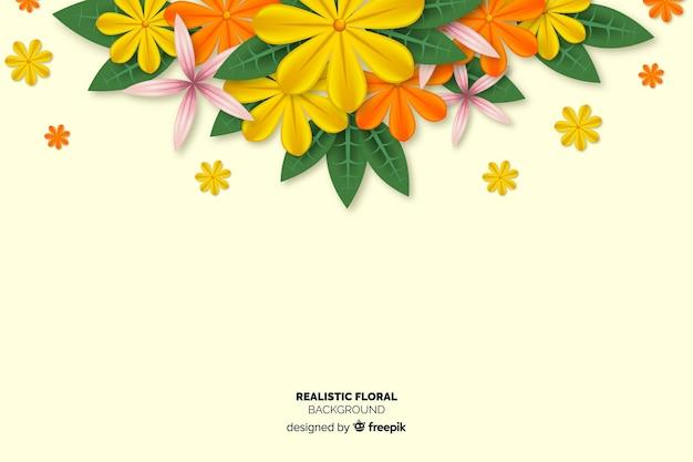 Realistyczne tło kwiatowy