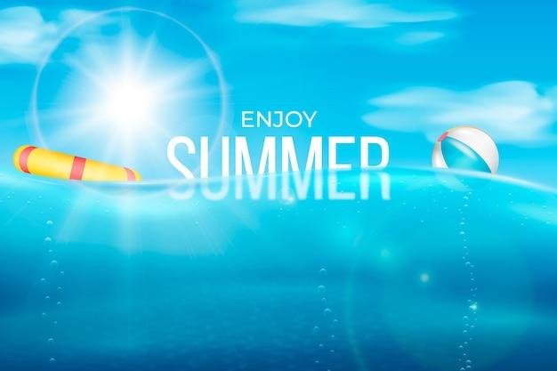 Realistyczne tło lato