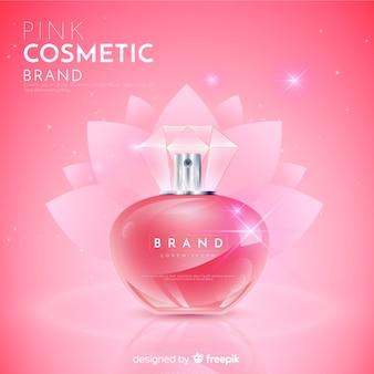 Realistyczne tło naturalne reklamy kosmetyczne