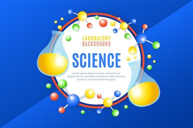 Realistyczne tło nauki z cząsteczkami