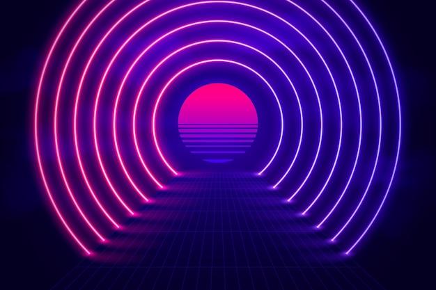 Realistyczne tło neonów