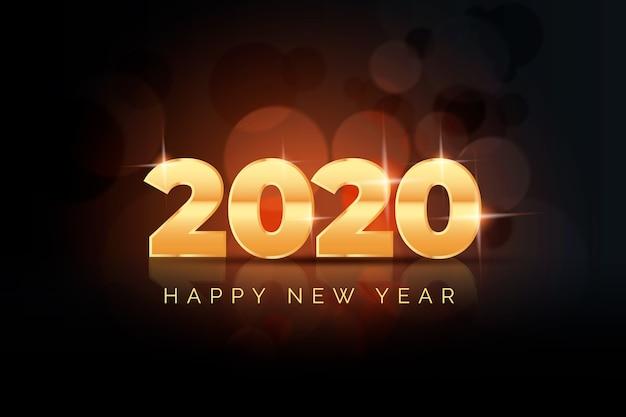 Realistyczne tło nowego roku 2020