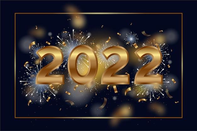 Realistyczne tło nowego roku