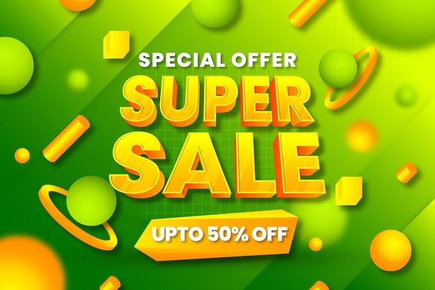 Realistyczne tło oferty specjalnej sprzedaży 3d