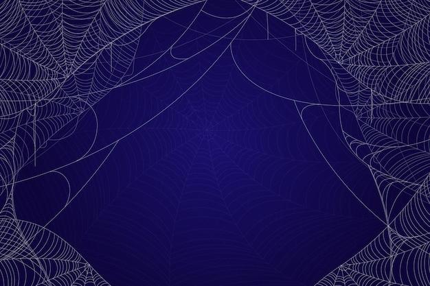 Realistyczne tło pajęczyna halloween