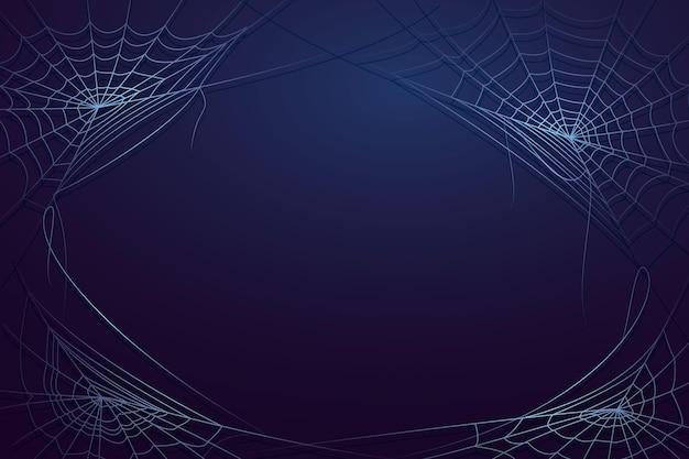Realistyczne tło pajęczyny halloween