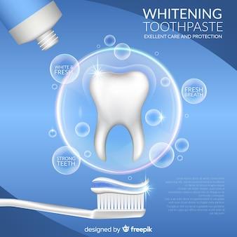 Realistyczne tło pasty do zębów