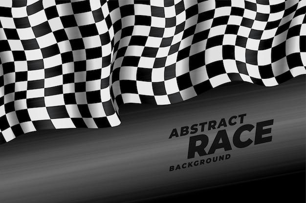 Realistyczne tło prędkości flagi wyścigów w kratkę