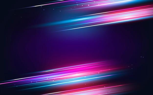 Realistyczne tło ruchu neonowego prędkości