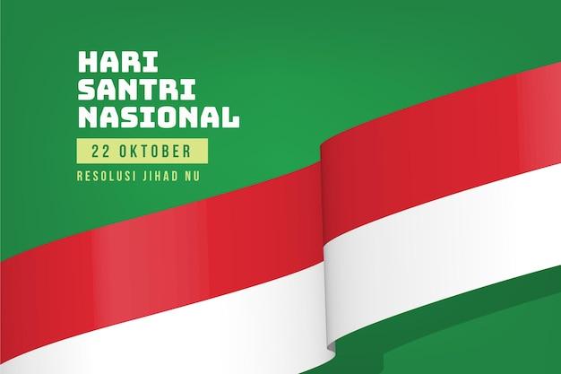 Realistyczne tło santri ze wstążką flagi