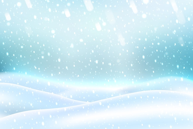 Realistyczne tło śniegu