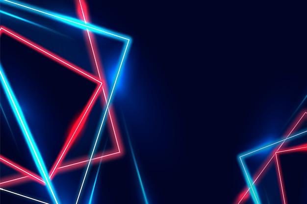 Realistyczne tło światła neonowe