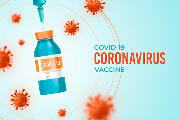 Realistyczne tło szczepionki koronawirusowej