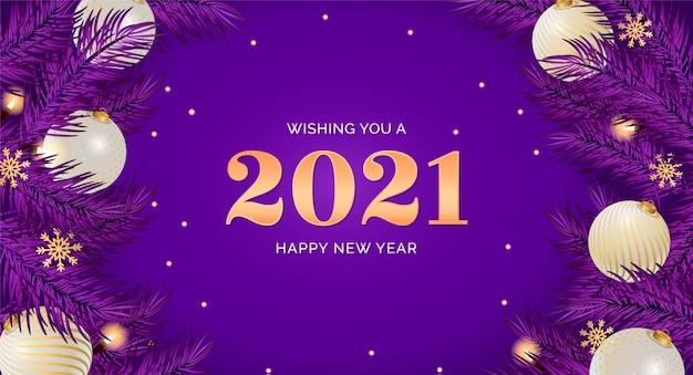 Realistyczne tło szczęśliwego nowego roku