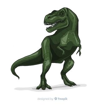Realistyczne tło t-rex