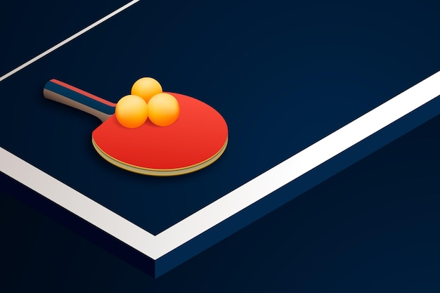 Realistyczne tło tenis stołowy