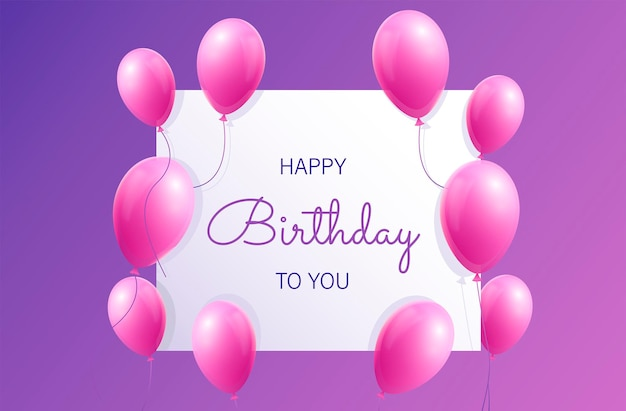 Realistyczne tło urodziny z balonami