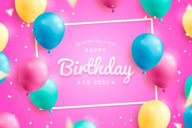Realistyczne tło urodziny