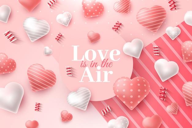 Realistyczne tło valentine's day