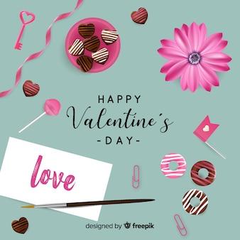 Realistyczne tło valentine