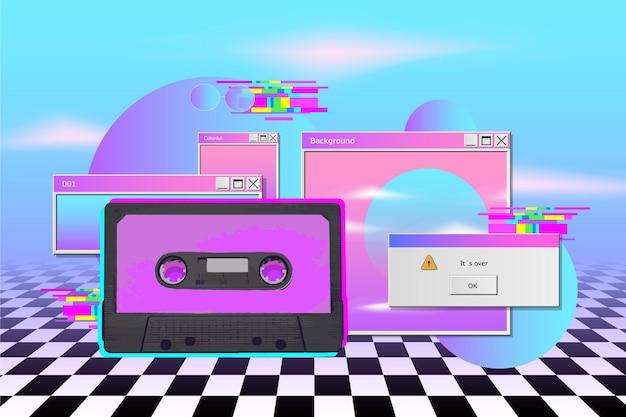 Realistyczne tło vaporwave