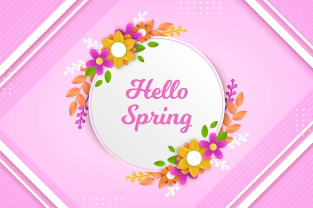 Realistyczne tło wiosna w stylu papieru