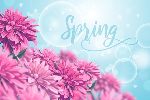 Realistyczne tło wiosna