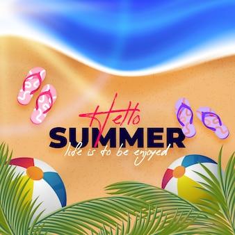 Realistyczne tło witaj lato