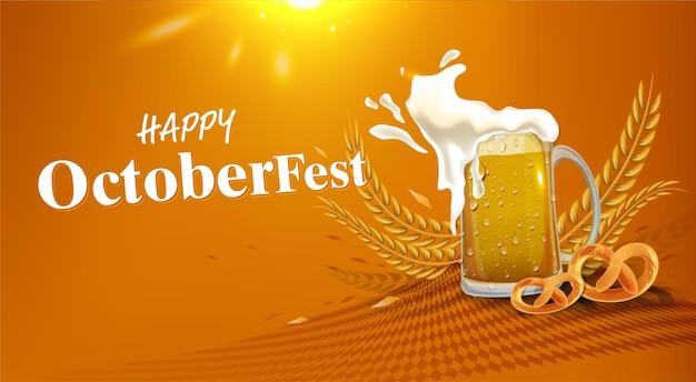 Realistyczne tło z elementami oktoberfest