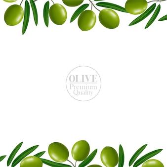 Realistyczne tło z oliwek