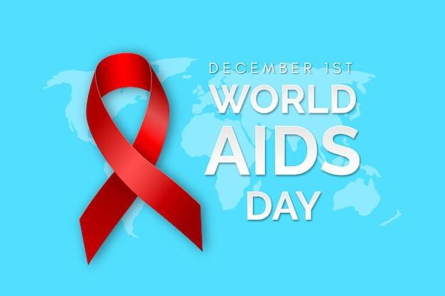 Realistyczne tło z wstążką aids day