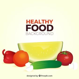 Realistyczne tło zdrowej żywności