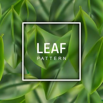 Realistyczne tło zielony liść.