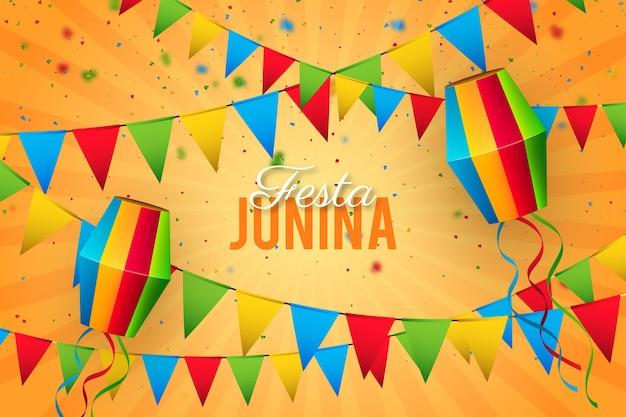 Realistyczne tradycyjne wydarzenie festa junina