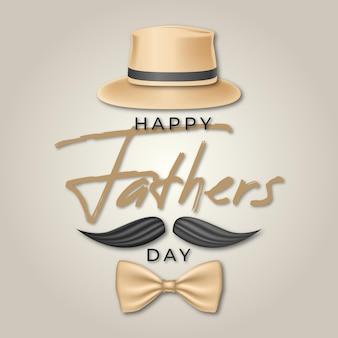 Realistyczne transparent dzień szczęśliwy ojciec