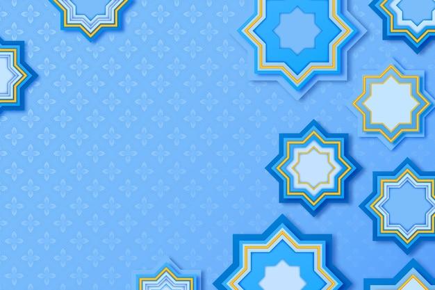 Realistyczne trójwymiarowe arabskie ozdobne tło