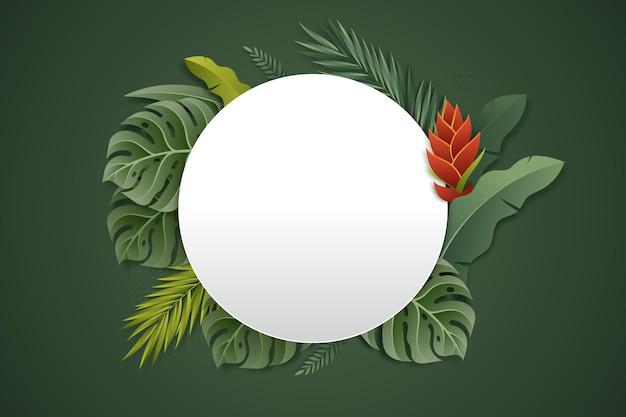 Realistyczne tropikalne lato pusty transparent