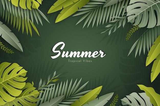 Realistyczne tropikalne liście tło