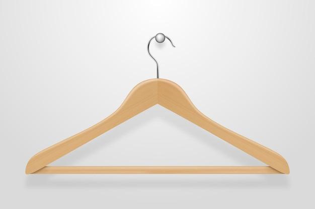 Realistyczne ubrania płaszcz czarno-biała ikona wieszaka na białym tle