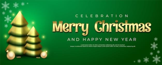 Realistyczne wesołych świąt i szczęśliwego nowego roku z dekoracją świąteczną