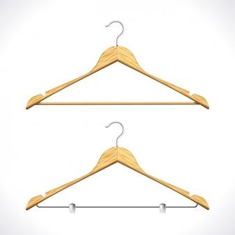 Realistyczne wieszaki na ubrania