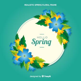 Realistyczne wiosna kwiatowy ramki