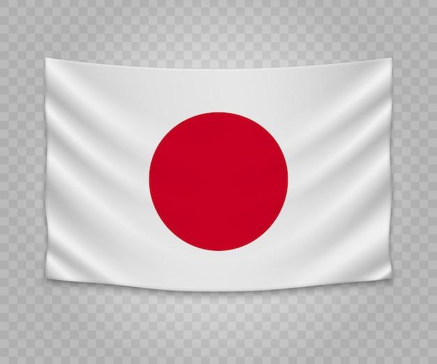Realistyczne wiszące flagi japonii