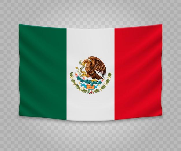 Realistyczne wiszące flagi meksyku