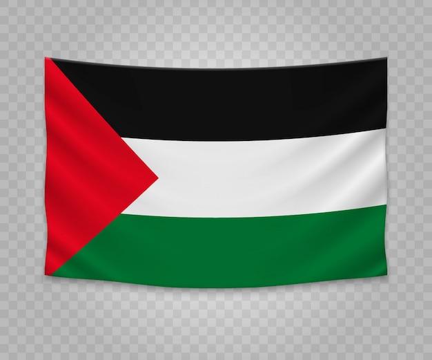 Realistyczne wiszące flagi palestyny