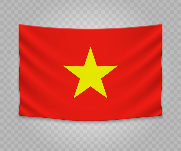 Realistyczne wiszące flagi wietnamu