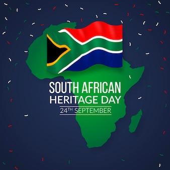 Realistyczne wydarzenie dnia dziedzictwa w afryce południowej