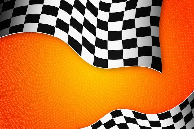 Realistyczne wyścigi tło flaga z szachownicą