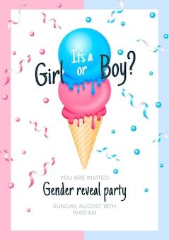 Realistyczne zaproszenie do ujawnienia płci