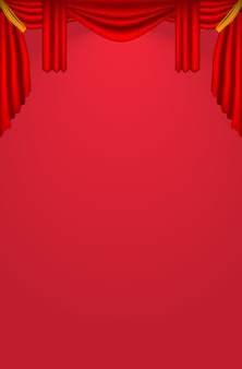 Realistyczne zasłony teatralne
